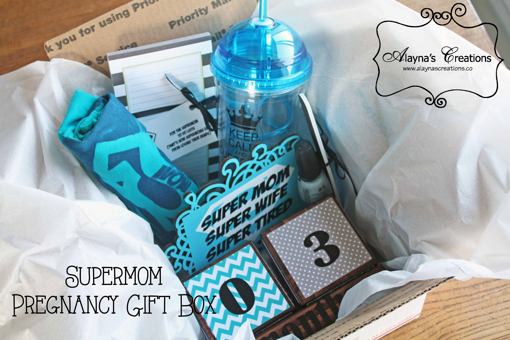 A Gift for SuperMom DIY home decor and crafts – Baby Announcement Boxes