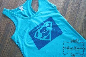 Supermom Tshirt Tank Top DIY