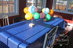 Birthday Party Balloon Topiary Centerpiece