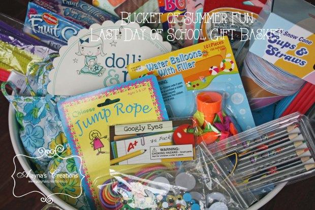 Bucket of Fun Last Day of School Gift Basket A