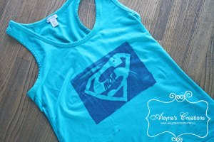 DIY Supermom Shirt Tutorial