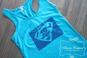 DIY Supermom Shirt Tutorial