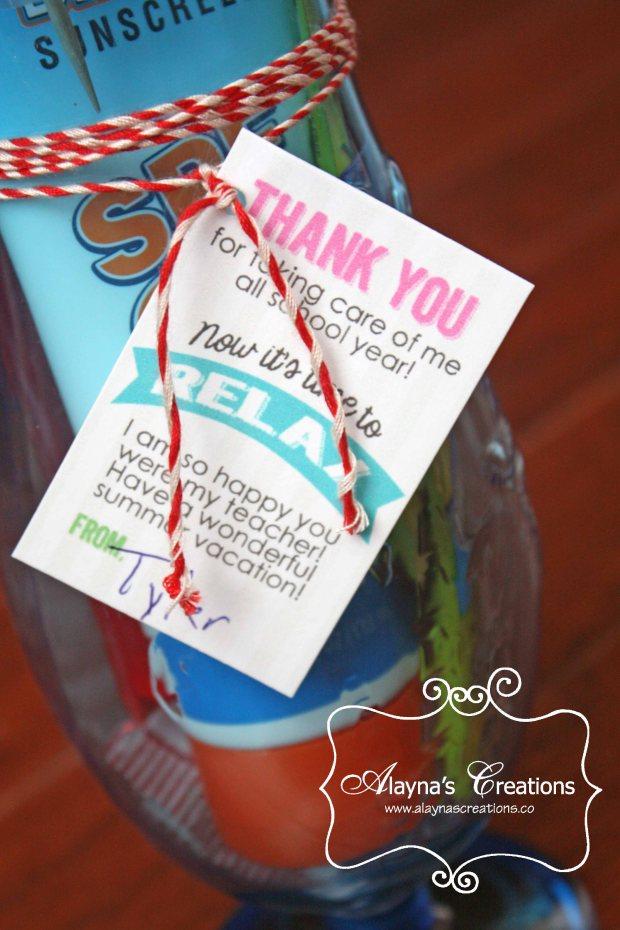 End of School Teacher Umbrella Relax Gift