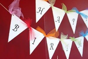 Happy Birthday Beadboard Pennant Banner