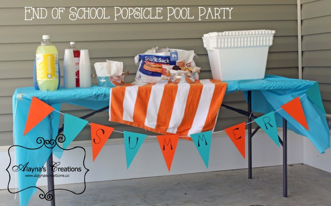 Last Day of School Popsicle Pool Party