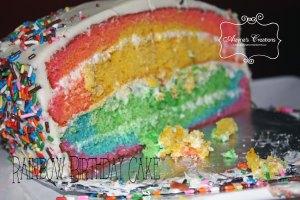 Rainbow Birthday Cake B