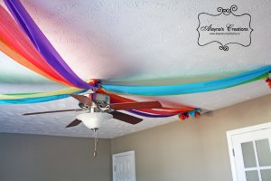 Rainbow Dance Party Ceiling Decorations