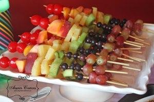 Rainbow Dance Party Rainbow Fruit Kebabs