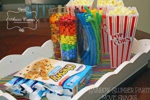 Rainbow Slumber Party Movie Snacks Tray B