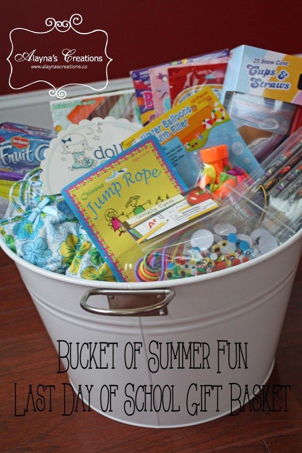 Summer Fun Bucket Gift Basket