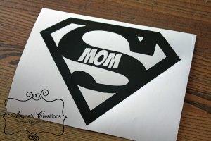 Supermom Logo Vinyl Template