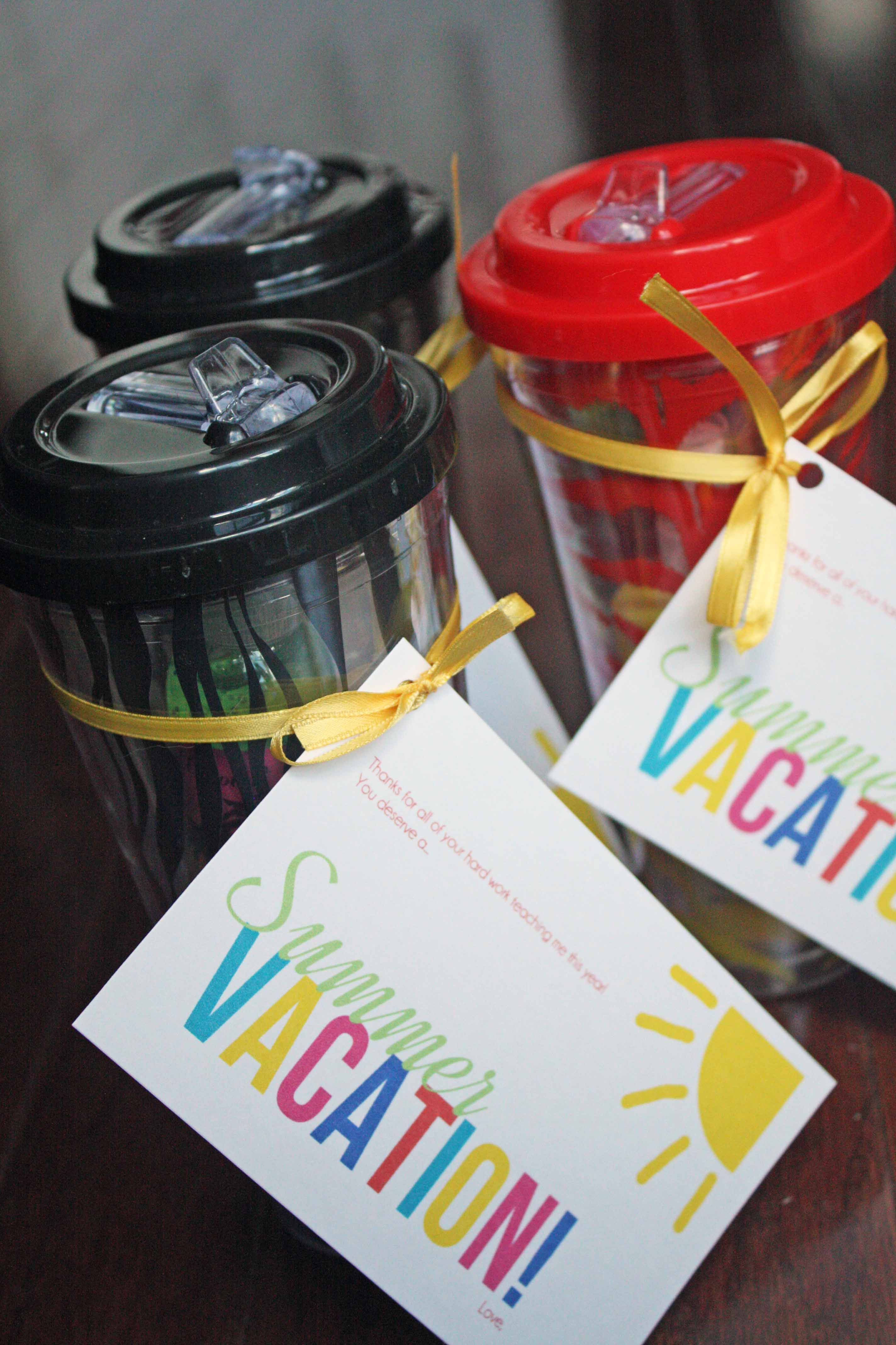 end of the year teacher gifts in a cup