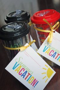 Teacher Appreciation Gift Vacation Kit in a Cup