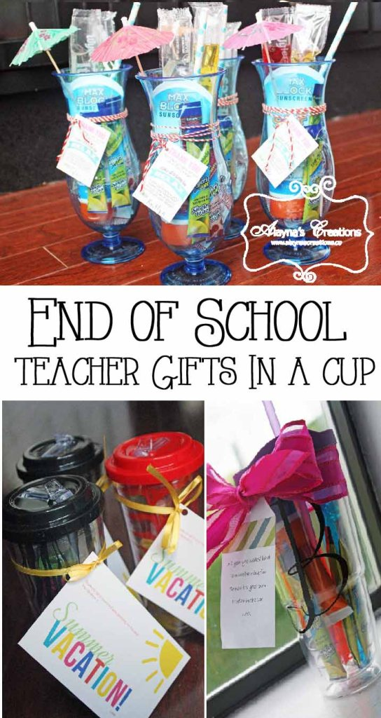 Teacher Gifts in a Cup Ideas
