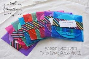 Top 10 Dance Songs Party Favor CD Rainbow B