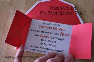 barn birthday party invitation archives diy home decor and crafts