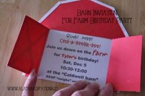 Barn Invitation for Farm Birthday Party Join Us Down on the Farm