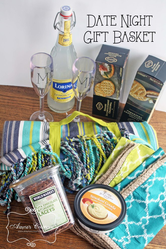 Date Night Picnic Basket Gift DIY home decor and crafts