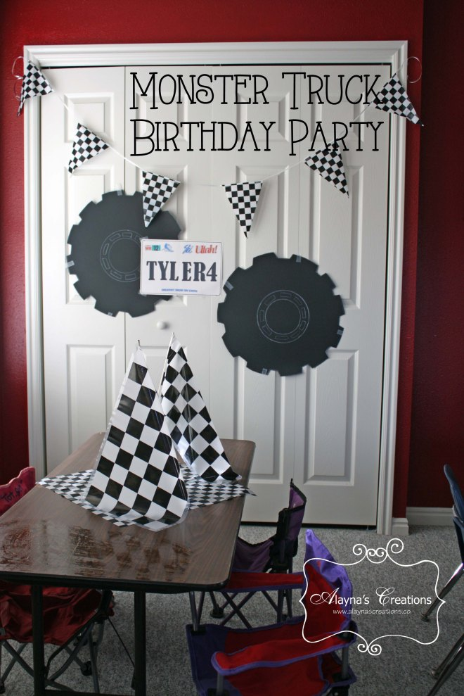 Monster Truck Birthday Party for Preschool and Elementary Age Boys