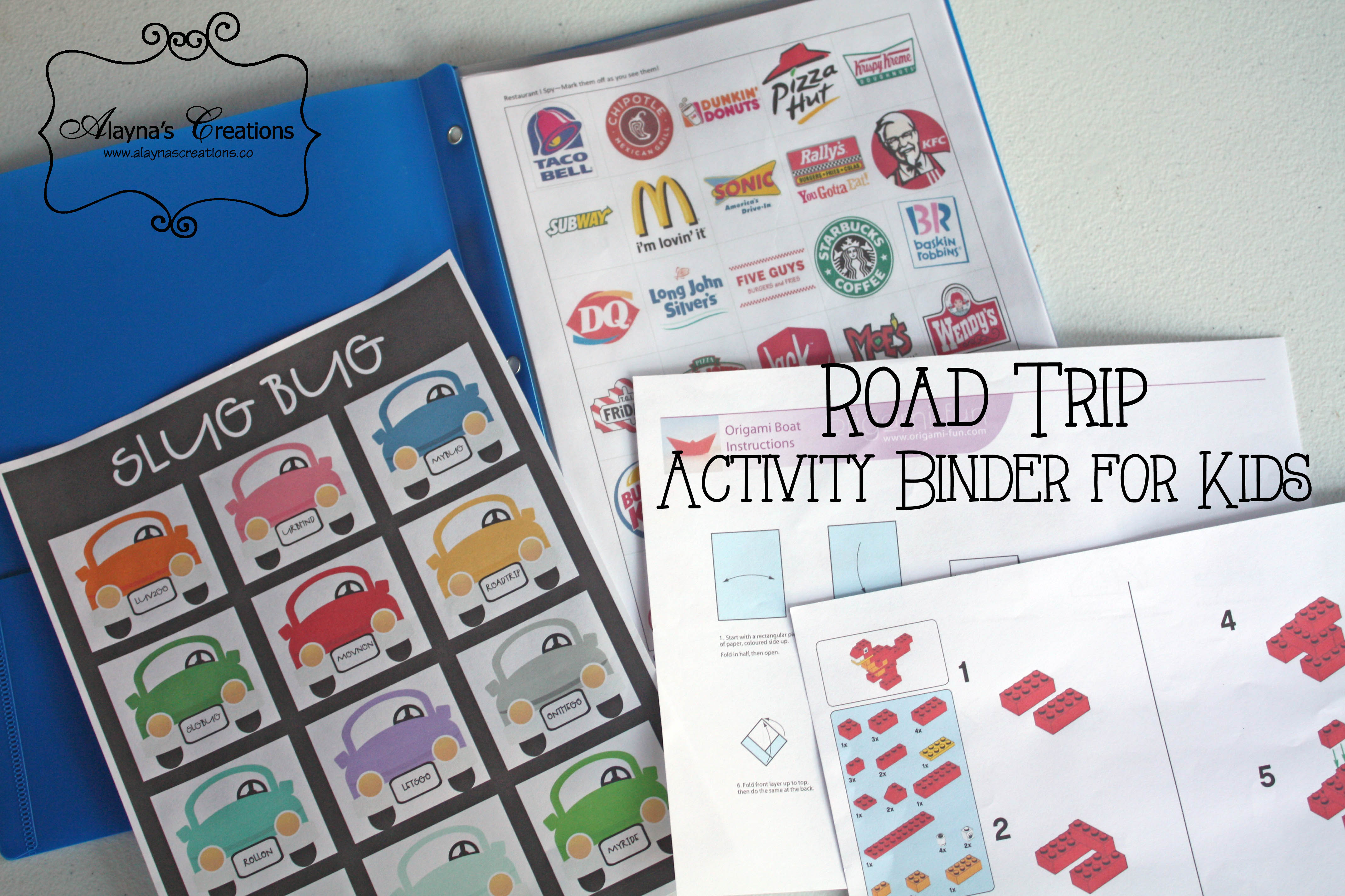 Road Trips: Travel Activity Binder for Kids - DIY home decor and crafts
