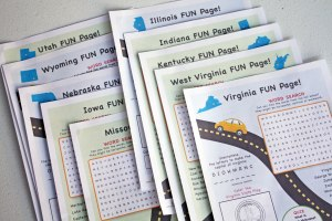 Road Trip Activity Binder for Kids Printable State Activity Pages