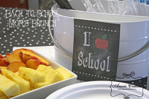 Back to School Moms Brunch Celebrate the kids first day back at school with a fun get together with other moms