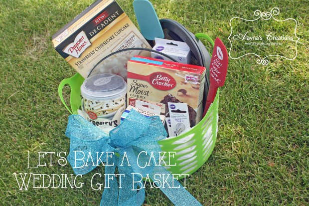 Bake a Cake Gift basket is the perfect gift for weddings or bridal showers