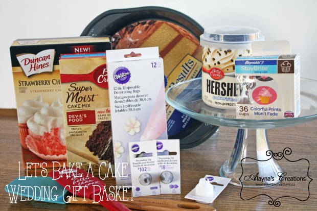 Cake Baking Gift Basket Idea for Wedding or Bridal Shower
