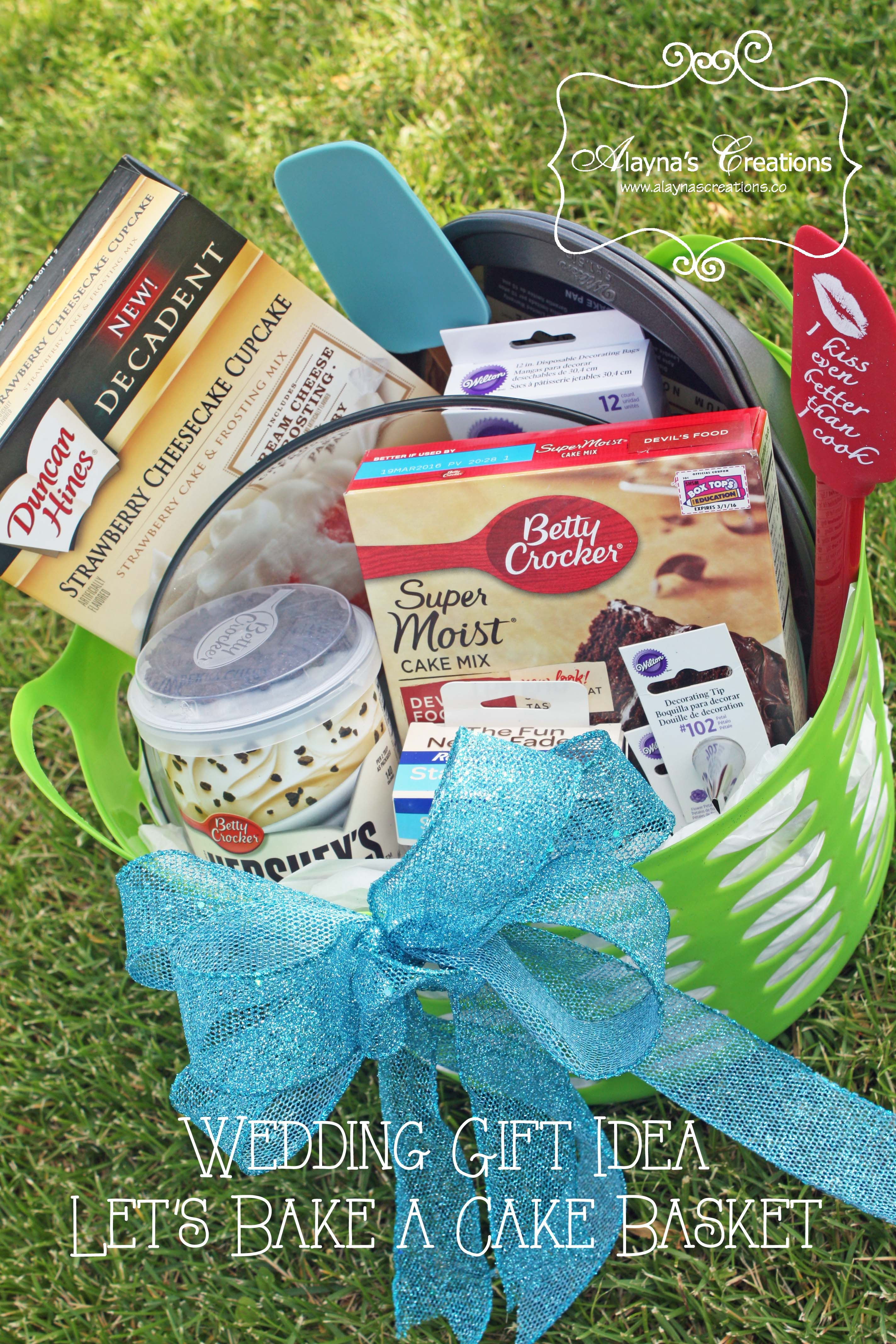 Let\'s Bake a Cake - Wedding Gift Basket - DIY home decor and crafts