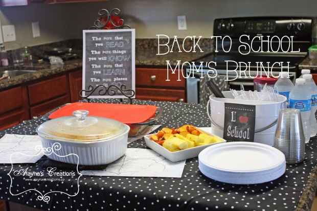 Chalkboard and Maps Oh the Places You'll Go Back to School Brunch for Moms