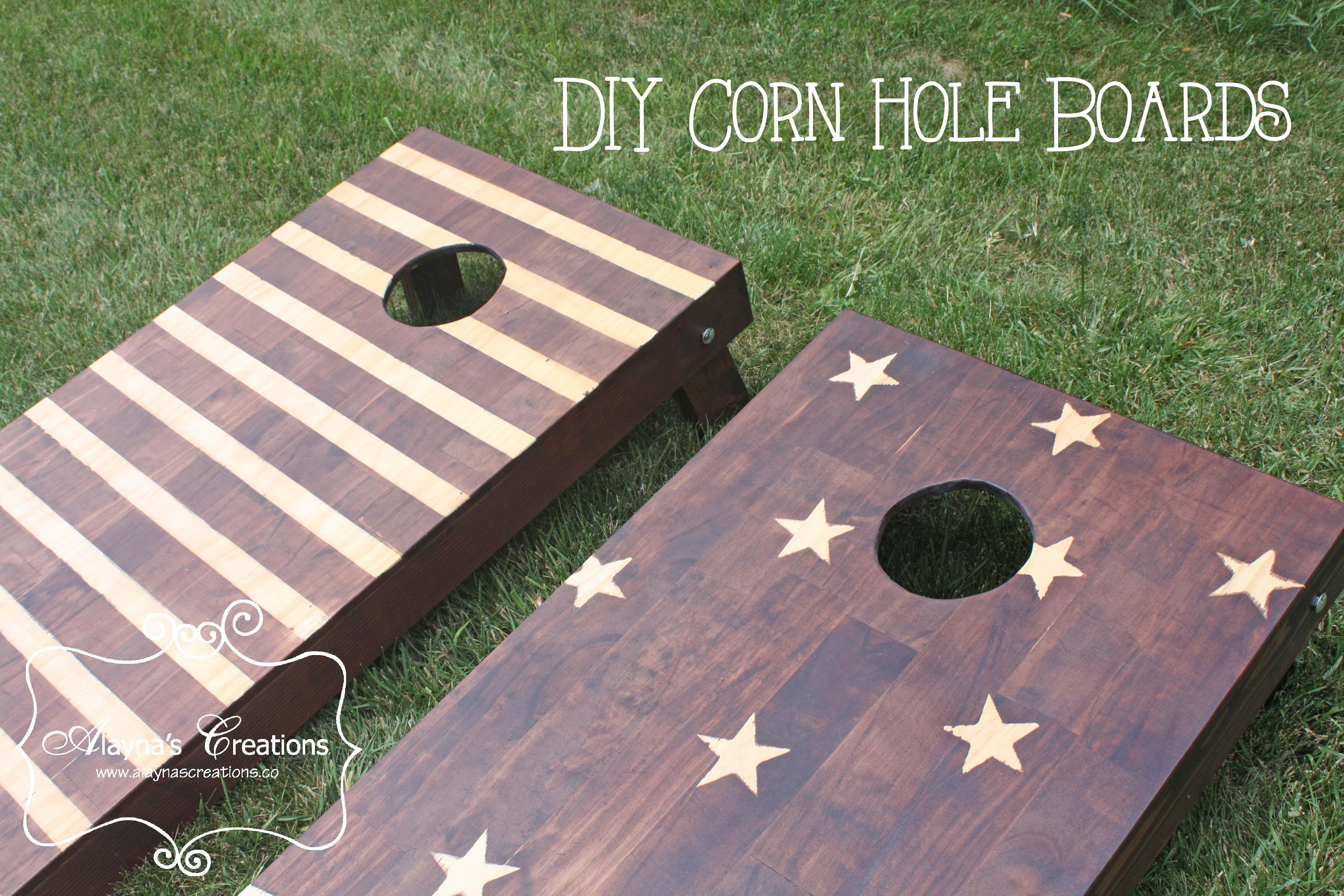 stars and stripes corn hole boards diy tutorial - Cornhole Design Ideas