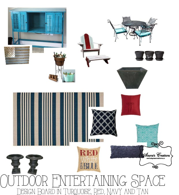 Outdoor Entertaining Space Design Board
