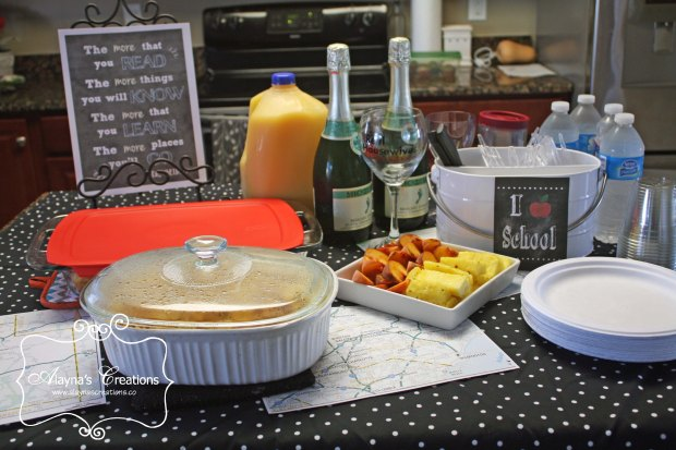 Party Idea for Moms Back to School Brunch on the first day of school