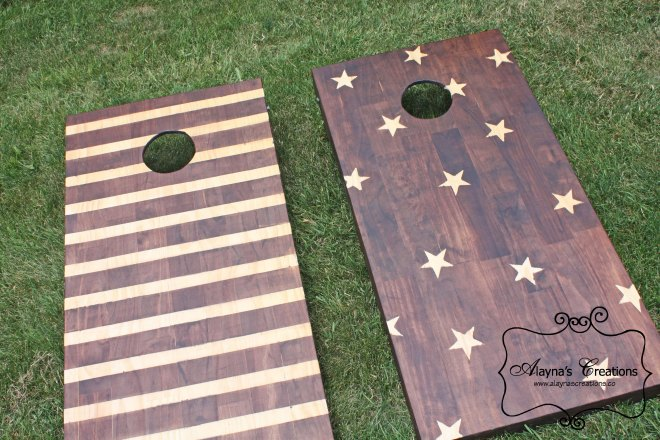 Patriotic Beanbag Toss yard game is perfect for your next BBQ