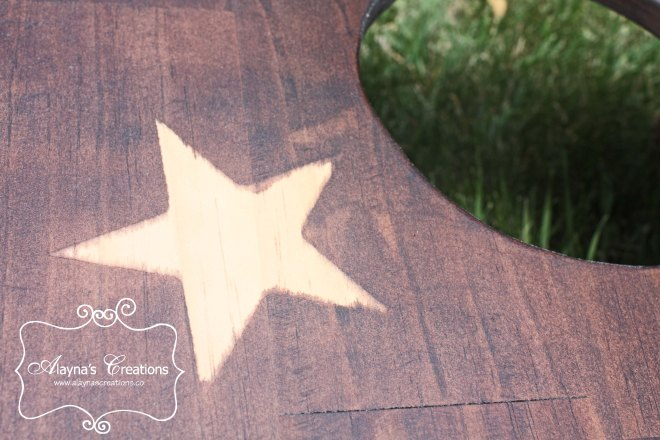 Stars and Stripes corn hole boards stain technique