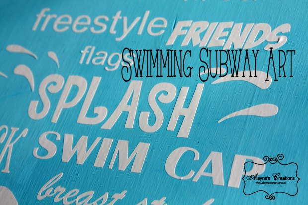 Subway Art for Summer Swimming Tutorial