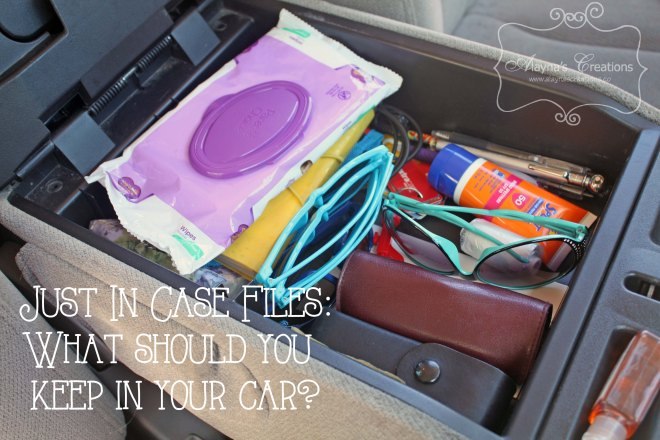 What should you keep in your car just in case necessities