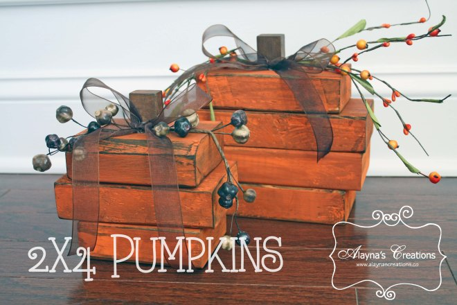 2x4 Pumpkins Tutorial Easy and inexpensive fall decorating project