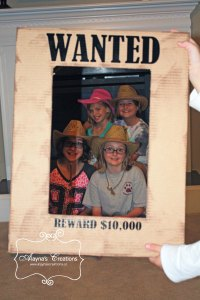 Cowgirl Horse Birthday Party Photo Prop Wanted Poster