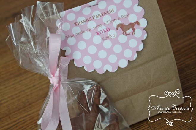 Cowgirl Horse Party Favor Bags Pink and Brown