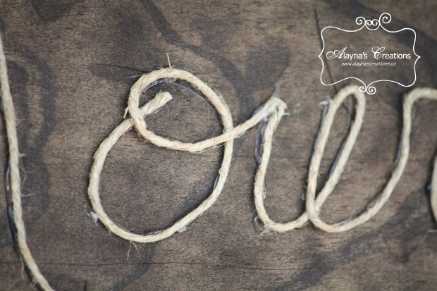 Detail photo of Howdy Rope sign for cowgirl birthday party