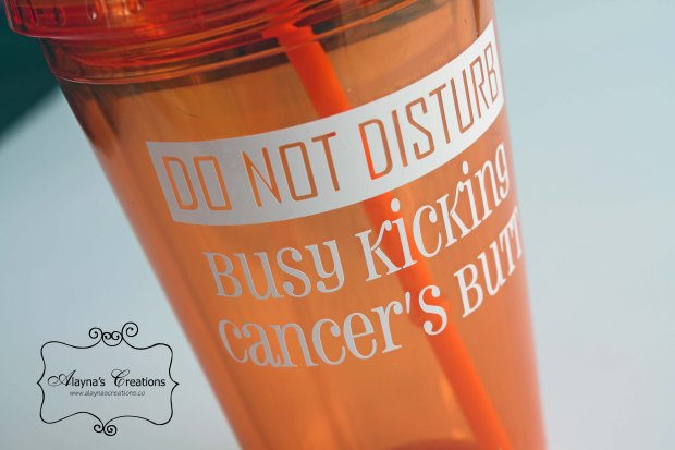 Do Not Disturb Busy Kicking Cancer's Butt Custom Cup
