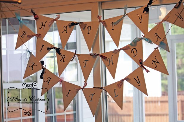 Happy Birthday Banner Beadboard Pennant Banner for Parties