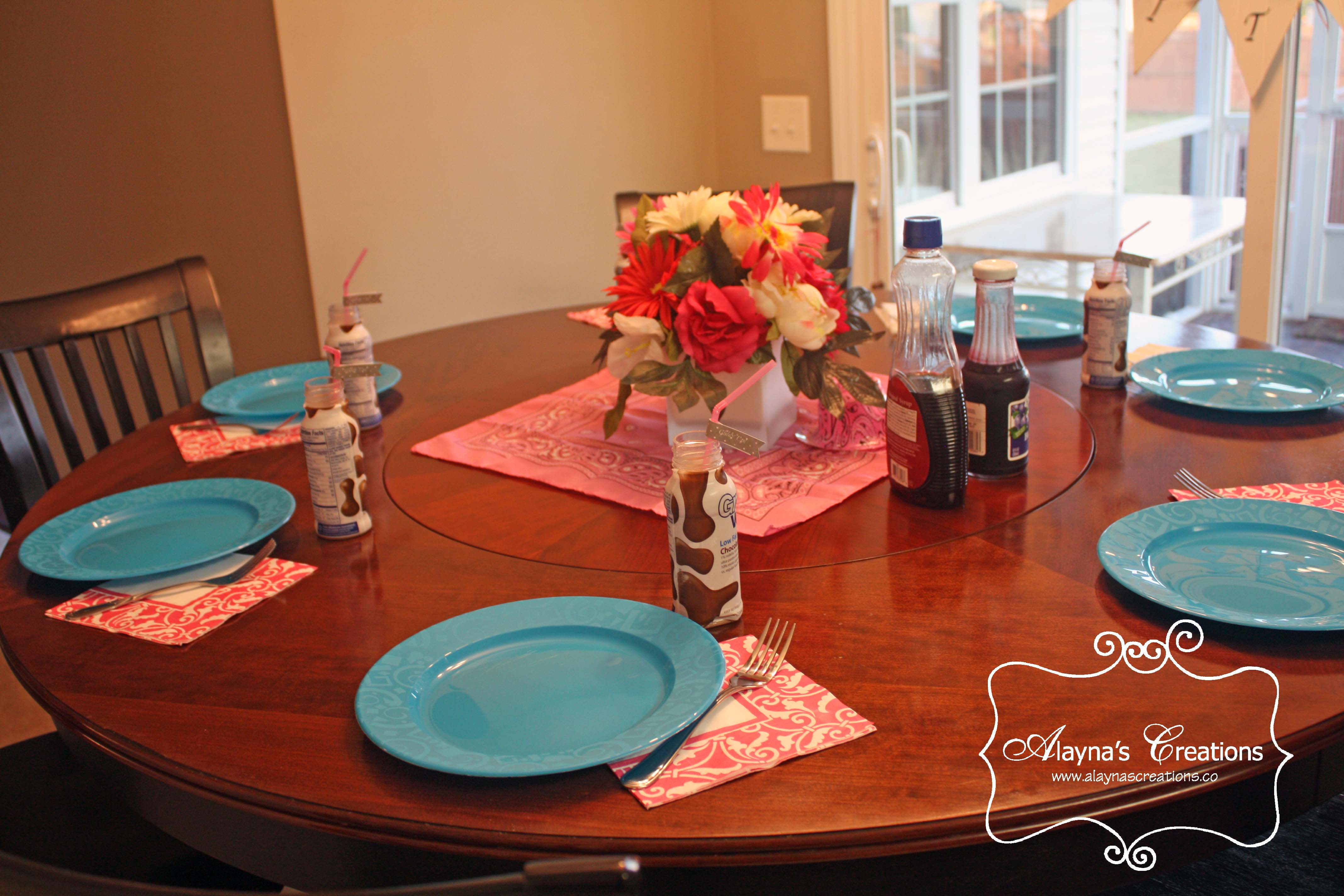 Slumber Up Bed   horse cowgirl slumber party breakfast tablescape