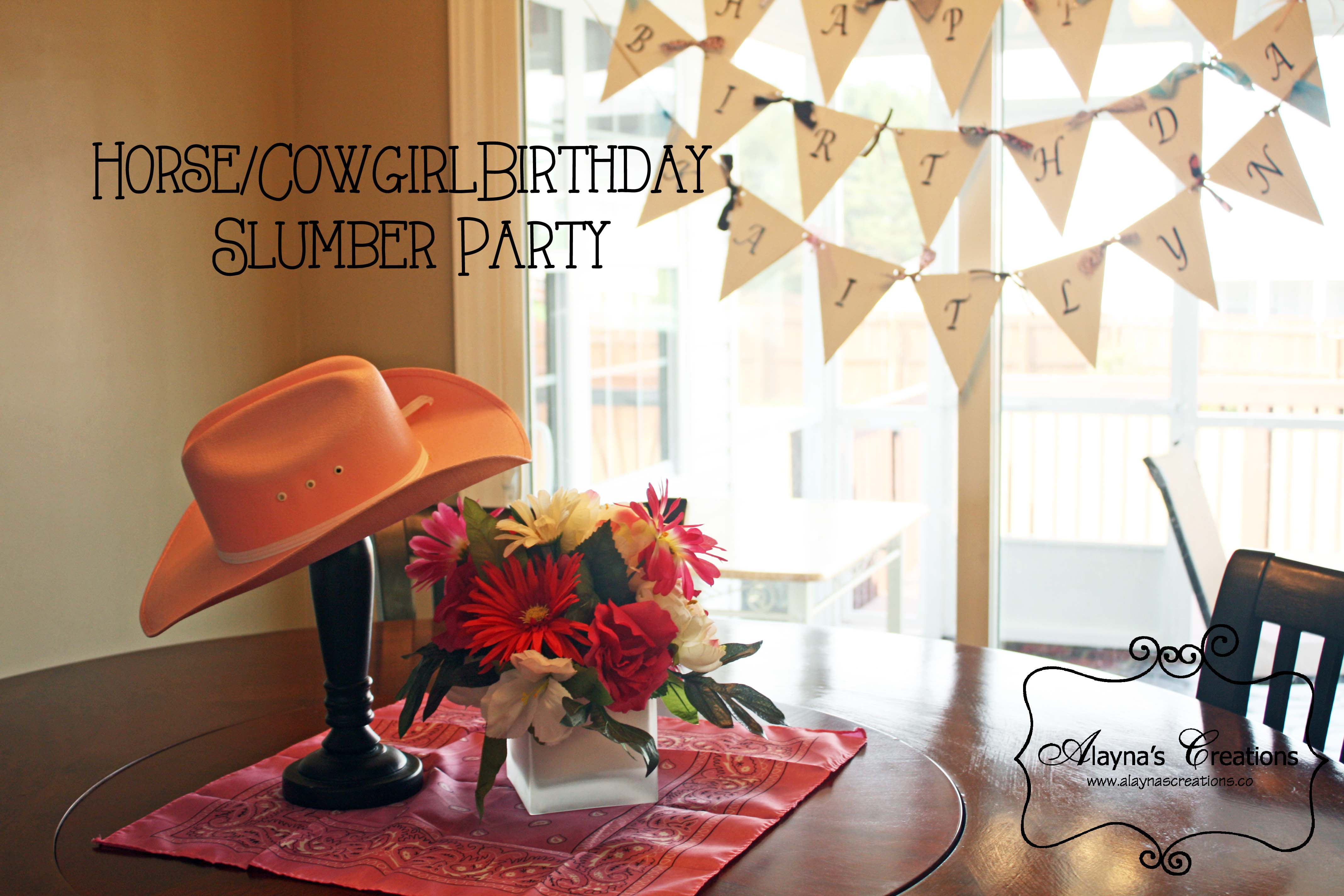 Horse Slumber Party Table Decor And Birthday Banner Party Decorations