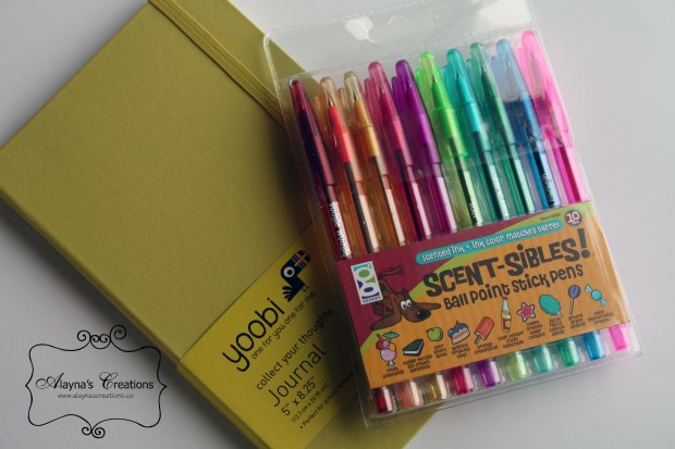 Journal and Rainbow Pens for Sunshine Gift Basket