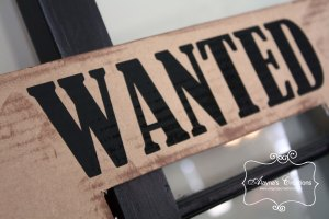 Photo Props for Cowgirl Slumber Party Wanted Poster