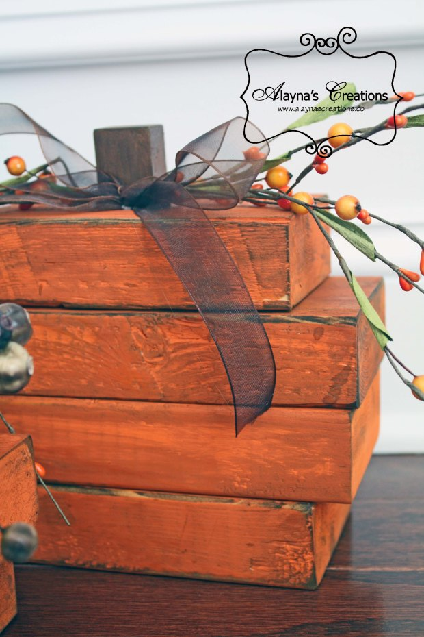 Rustic Wooden Pumpkin How to Make a set of these for yourself for Halloween and Fall