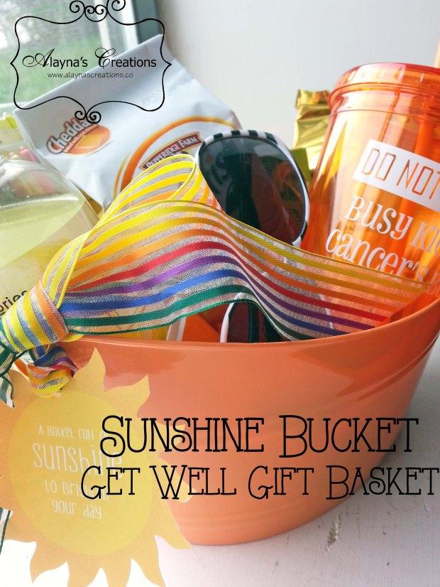 Sunshine Bucket Get Well Gift Basket Idea for a friend undergoing cancer treatments