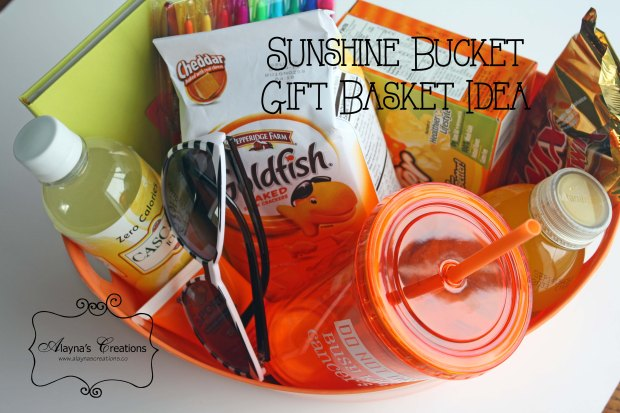 Sunshine Bucket Gift Basket Idea for a sick friend or any occasion